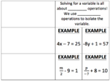 Two Step Equations Interactive Notebook Foldable