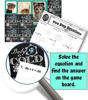 Two-Step Equations Interactive PowerPoint Game