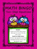 Two-Step Equations (Inverse Operations) MATH Bingo