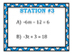 Two-Step Equations (Inverse Operations) Stations