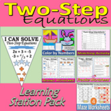 Two-Step Equations - Learning Stations Resource Pack