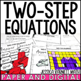 Two-Step Equations Lesson Bundle