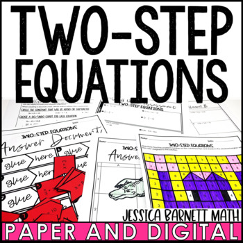 Two-Step Equations Lesson Bundle