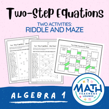 Two-Step Equations: Line Puzzle Activity