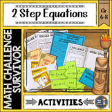 Two Step Equations Math Challenge Survivor