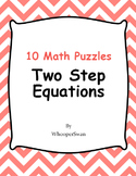 Two Step Equations Puzzles