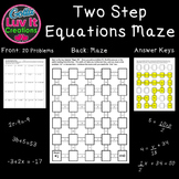 Solving Equations Equations Two Step Equations 2 Mazes