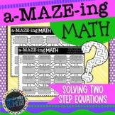 Two-Step Equations Maze Activity:2 Puzzles Included!