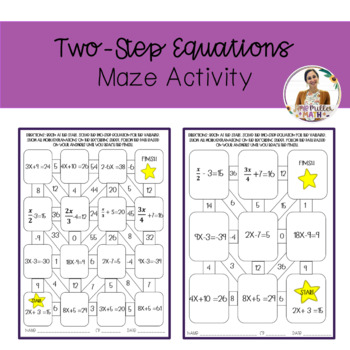 Two-Step Equations Maze Activity