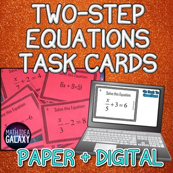 Two Step Equations Mini Task Cards