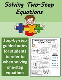 Two-Step Equations Notes