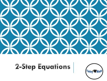 Two Step Equations Example Notes PowerPoint: Click to show each Step by Step