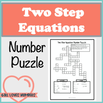 Two Step Equations Number Puzzle