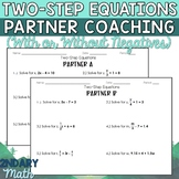 Two-Step Equations Partner Coaching Activity