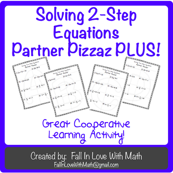 Two-Step Equations Partner Pizzaz PLUS!