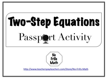 Two-Step Equations Passport Activity