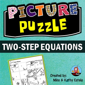 Two-Step Equations Picture Puzzle