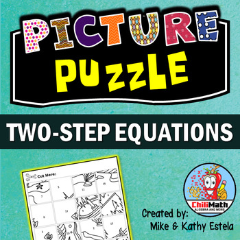 One-Step Equations Picture Puzzle by ChiliMath - Algebra and More
