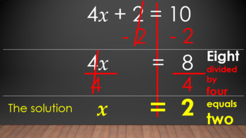 Two-Step Equations PowerPoint