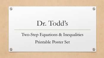 Two-Step Equations Printable Poster