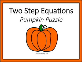 Two Step Equations Pumpkin Puzzle
