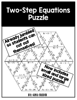 Two-Step Equations Puzzle