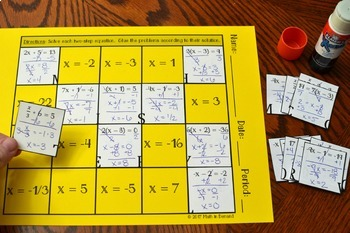 Two-Step Equations Hidden Message Activity