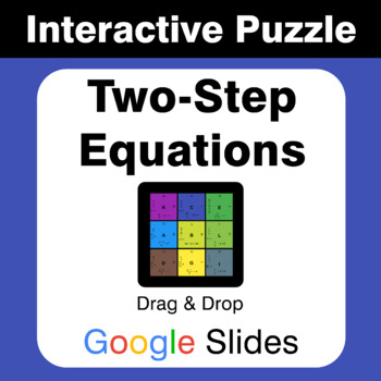 Two Step Equations - Puzzles with GOOGLE Slides