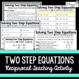 Two Step Equations Reciprocal Learning Activity {Editable}