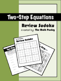 Two-Step Equations - Review Sudoku