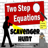 Two-Step Equations {Scavenger Hunt}