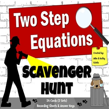 Two-Step Equations {Scavenger Hunt}
