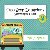 Two-Step Equations - Scavenger Hunt