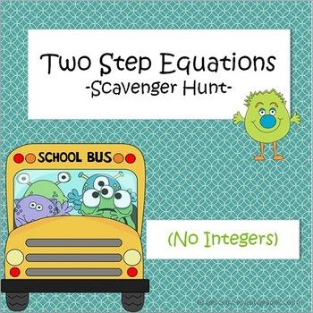 Two-Step Equations - Scavenger Hunt