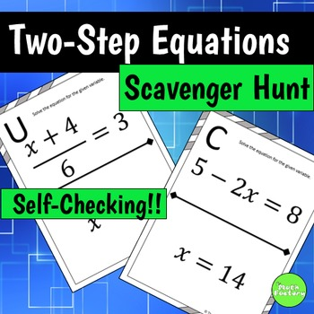 Two Step Equations Scavenger Hunt Activity