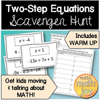 Two-Step Equations Scavenger Hunt