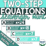 Two-Step Equations Scavenger Hunt (Digital + Printable)