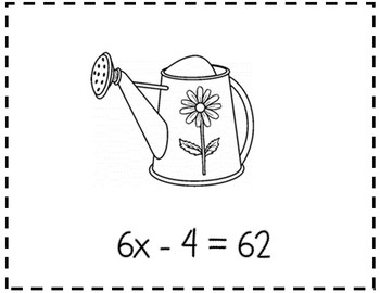 Two-Step Equations Scavenger Hunt {2 Step Equations Activity}