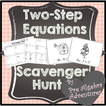 Solving Equations Scavenger Hunt {One and Two Step) {Activity} {Activities}