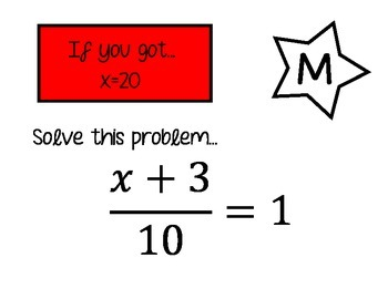 Two Step Equations Scavenger Hunt (easier-without negative answers)