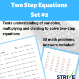 Two Step Equations - Set 2