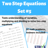 Two Step Equations - Set 5