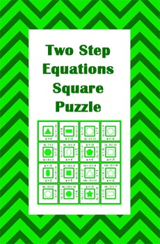 Two Step Equations Square Puzzle