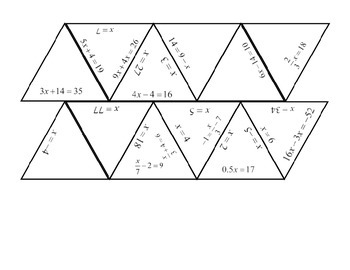 Two - Step Equations Star Puzzle