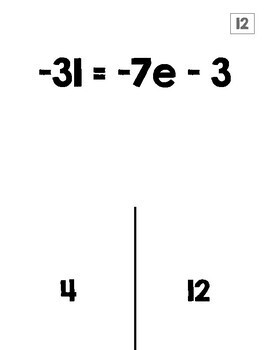 Two-Step Equations Halloween Activity (TRICK or TREAT)