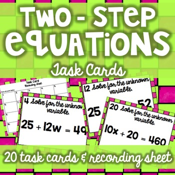 Two-Step Equations Task Cards