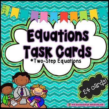 FREEBIE! Two-Step Equations Task Cards - Algebra