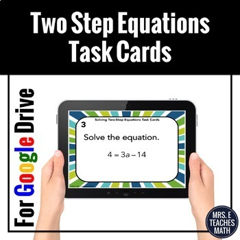 Two Step Equations Task Cards Digital Activity