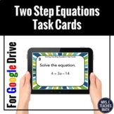 Two Step Equations Task Cards Digital Activity Distance Learning