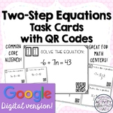 Solving Two-Step Equations Task Cards with QR Codes GOOGLE